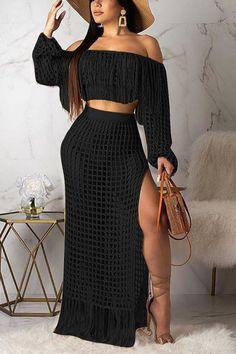 Hot Dress, Jumpsuit Dress, Two Piece Outfit, Two Piece Skirt Set, Beach Skirt, Mode Chic, Crochet Fashion, Wholesale Clothing, Shoes Wholesale