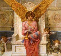 John Melhuish Strudwick - detail Love's Music, a triptych