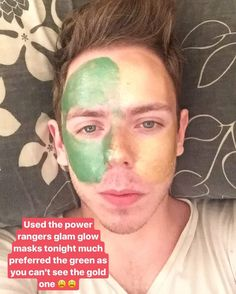 I thought I'd do a wee @glamglowuk Gravity Mud mask last night while I was in bed watching the. I used the new Power Rangers masks. Obviously the product is the same it's just a colour difference I much prefer the green Rita Repulsa version as it's kind of hard to see the gold one. Again Gravity Mud is perfect for those of you that want that tightening and firming effect  #bbloggers #glamglow #powerrangers #gravitymud #ritarepulsa #goldar #selfiesunday