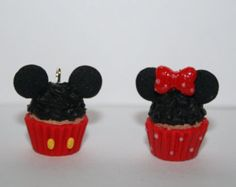 Miniature Minnie and Mickey Inspired Cupcake Charms