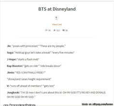 Repinning bc I am seeing bangtan & disney within days of each other lol