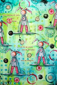 The Meaning of Life: A Mixed-Media Art Journal Page by Guest Artist Kate Crane