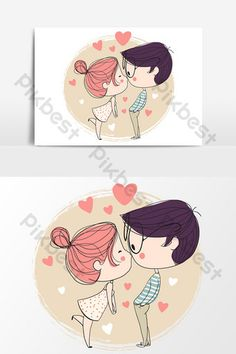 Valentine Cartoon, Valentines Day Drawing, Valentines Day Couple, Valentines Design, Valentine Special, Valentine Cards, Calligraphy Save The Dates, Chinese Valentine's Day, Couple Hands
