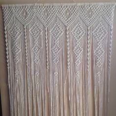 Macrame curtain room divider door curtain retro wall hanging