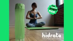 HidrateMe, a smart water bottle that syncs to your phone to track your water intake and glows to remind you to stay hydrated