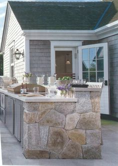 outdoor kitchen with counter