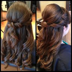 1/2 updo prom hair wedding hair bride hair styles