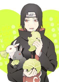 Itachi and bunnies, my life is complete.     itachi bunny rabbit uchiha akatsuki naruto