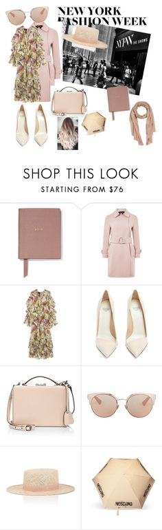 """""""Unbenannt #93"""" by atolrac ❤ liked on Polyvore featuring Smythson, Topshop, Gucci, Francesco Russo, Mark Cross, Christian Dior, Janessa Leone, Moschino and Ermanno Scervino"""