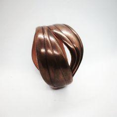 Copper 3d Printed Jewellery Bangle - Honolulu