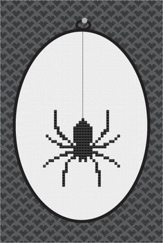 Cross stitch spiders   Spider Silhouette Cross Stitch PDF Pattern I by kattuna on Etsy