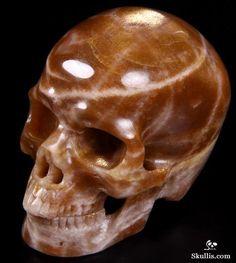 Moonstone skull carving from Skullis.com