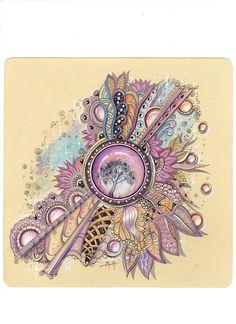 Martina Arend Beautiful Zentangle with Zengems Zentangle Drawings, Doodles Zentangles, Doodle Drawings, Doodle Art, Doodle Designs, Doodle Patterns, Zentangle Patterns, Gem Drawing, Tangle Art