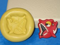 Shark Fish Silicone Push Mold A453 For Chocolate Resin Candy Craft Clay Gumpaste #LobsterTailMolds