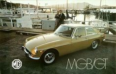 MGB/GT original multicolor advertising