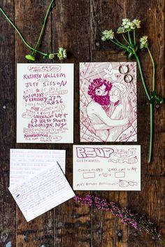 Tropical Themed Winter Brooklyn Wedding · Rock n Roll Bride