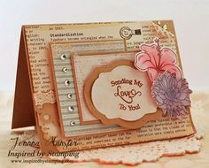 Inspired by Stamping, Joanna Munster, Summer Flowers, Trency Circle Sentiments, Fancy Labels 2 Die, love card, thinking of you card