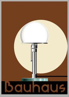 Tecnolumen WG 24 - Wilhelm Wagenfeld - Graphic by Niels Ditlev Design Bauhaus, Bauhaus Style, Retro Furniture, Furniture Design, Bauhaus Interior, Plakat Design, Design Movements, Chair And Ottoman, Architecture