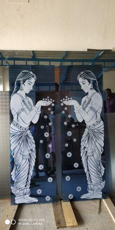 Jayesh Glass Partition Designs, Window Glass Design, Frosted Glass Design, Etched Glass Door, Glass Doors, Glass Etching Designs, Pooja Room Door Design, Glass Art Pictures, Tv Wall Design