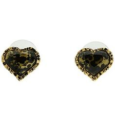 Betsy Johnson leopard print earrings