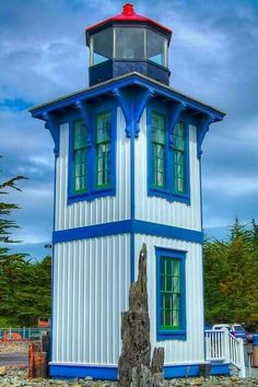 Lighthouse in. Eureka,. California,
