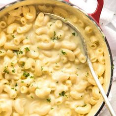 Mac and Cheese!! This is how I make it on the stove. It just happens to be made in ONE POT! The sauce is extra silky and glossy, thanks to the Italian trick of emulsifying the sauce which is what happens by cooking the mac in the sauce. Try it! I'd love to know what you think!