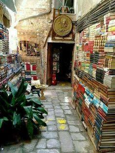 'Libreria Acqua Alta' is a unique book store in Venice, Italy