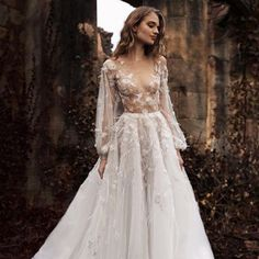 """Naked"" dress design by Paolo Sebastian Wedding Dresses Stunning Bridal Look Dream Wedding, Wedding Day, Trendy Wedding, Summer Wedding, Wedding Unique, Grunge Wedding, Tulle Wedding, Gown Wedding, Blush Colored Wedding Dress"