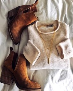 sweater + booties