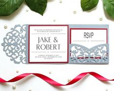 Wedding invitation SVG ai CRD eps Bride and Silhouette Cameo Boxes, Cricut Wedding Invitations, Laser Paper, Pocket Invitation, Place Card, Paper Cutting, Rsvp, Create Your Own, Etsy Seller