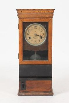 Old Ibm Employee Time Clock System Time Keeping Time