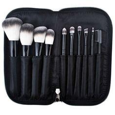 "Introducing our brand new Professional makeup brush set ""L'ensemble noir Essential"" 10 Piece Essential Professional Makeup Brush Set. RRP £100 SALE £35"