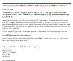 Pwc summerar #klimatavtalet http://www.pwc.se/sv/hallbar-utveckling/klimatmotet-i-paris-pwc-summerar-klimatavtalet.html . Fredrik Franke twittrar https://twitter.com/ffranke003 . Fredrik Frankes blogg https://www.linkedin.com/pulse/en-extra-ljus-luciamorgon-fredrik-franke .