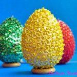 Πασχαλινά αυγά με χάντρες και πούλιες