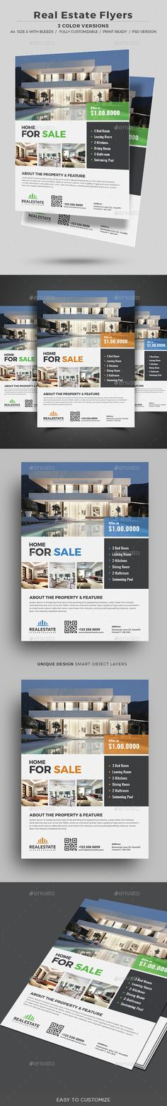 #Real #Estate Flyer - Corporate #Flyers Download here: https://graphicriver.net/item/real-estate-flyer/18047684?ref=alena994