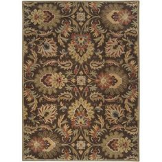 Charlton Home Camden Chocolate Area Rug Rug Size: 8' x 11'