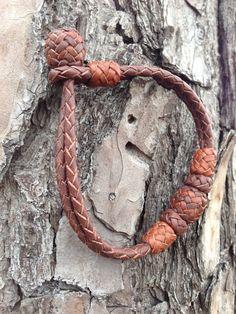 Bracelet in Kangaroo Leather Braid van artworks4us op Etsy