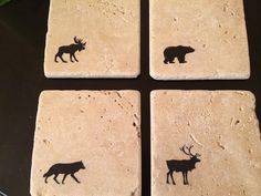But with fish or cabin theme - coasters