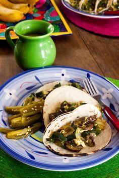 Jalapeno and Portobello Tofu Scramble Tacos for #MeatlessMonday