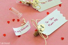 Send your sweetheart one of these message in a bottle valentines with a sweet and simple note. They will be amazed with your thoughtfulness and creativity!