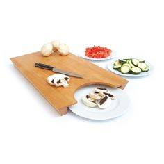 This is a cool design - swipe your cut vegtables right onto a plate.  59 EU
