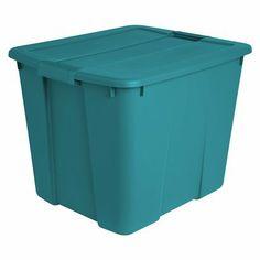 Target -  20 Gal. Latching Tote - Turquoise