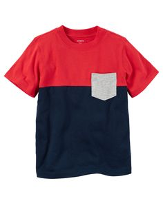 Toddler Boy Colorblock Pocket Tee from Carters.com. Shop clothing & accessories from a trusted name in kids, toddlers, and baby clothes.