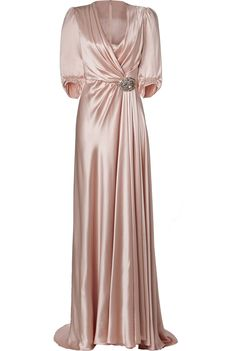 BEAUTIFUL. DESIGNER: JENNY PACKHAM DETAILS HERE:Silk Gown in Sugar
