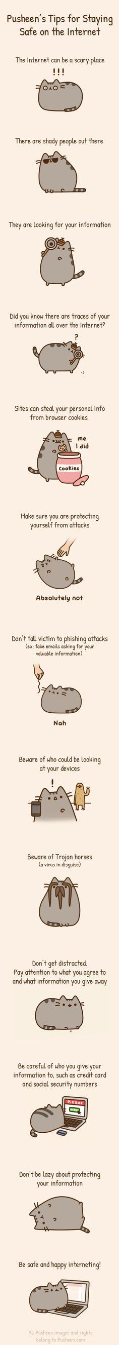 Pusheen internet tips