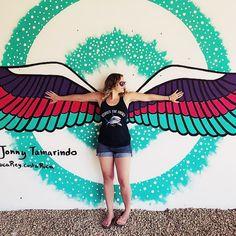 Didnt even need a redbull // Mural Wall Art, Tile Murals, Mural Painting, Mural Cafe, Angel Wings Wall Art, Garden Mural, Instagram Wall, Flower Mural, Murals Street Art