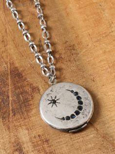 Moon Locket Necklace - Silver - Gypsy Warrior