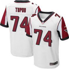 Men's Nike Atlanta Falcons #74 Tani Tupou Elite White NFL Jersey