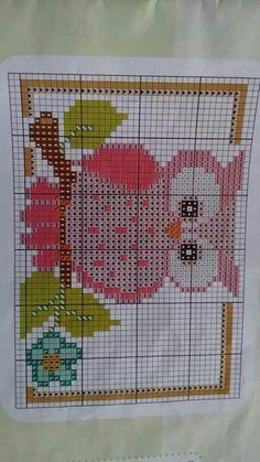 Cross Stitch Owl, Butterfly Cross Stitch, Cross Stitching, Cross Stitch Embroidery, Embroidery Patterns, Cross Stitch Patterns, Owl Quilts, Pixel Crochet, Cross Stitch Landscape