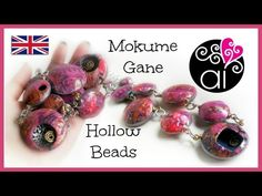 Bubbles Necklace | Polymer Clay Tutorial | Mokume Gane & Alcohol Inks | Hollow Beads | SUB ENG - YouTube